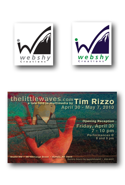 Webshy Logo and thelittlewaves Poster